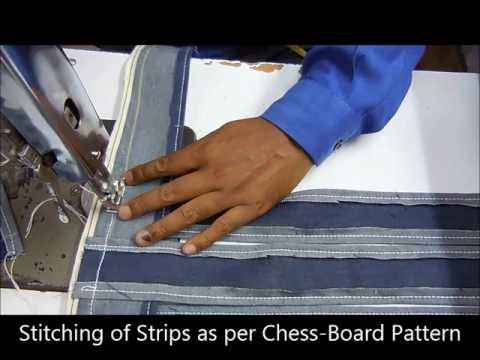 The Making of a Cushion Cover - Chess Board Pattern