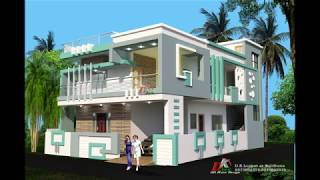 only double story house elevation designs