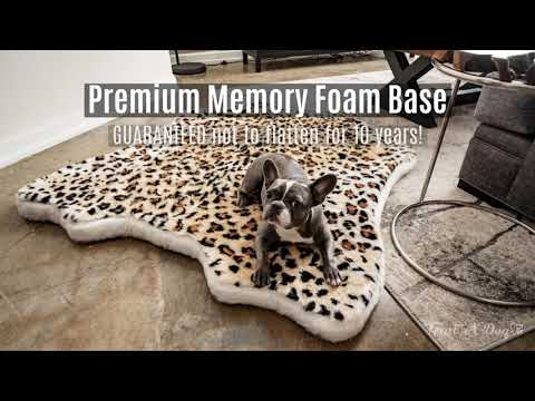 the-puprug™-faux-animal-print-beds