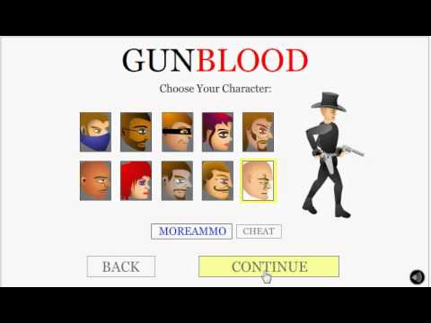 gunblood unblocked games Gun Blood Gameplay and Cheats - YouTube