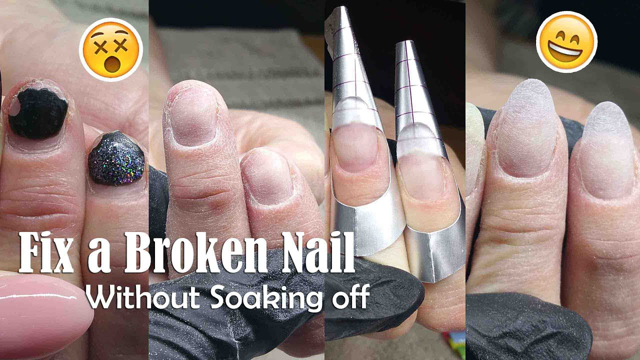 fix broken acrylic nail