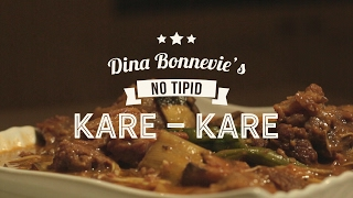 "Dina Bonnevie's ""No-tipid"" Kare-kare"