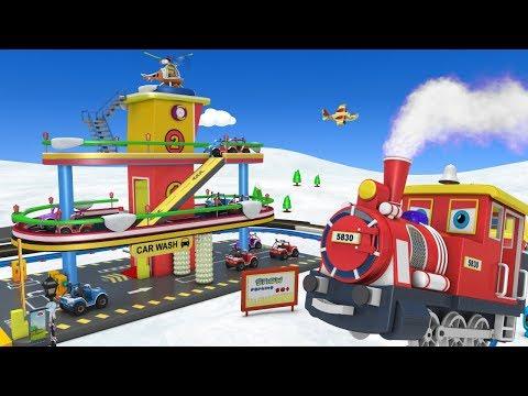 Toy Train for Kids -  Cartoon Car - Car for kids - Toy Factory Cartoon - Cartoon for Children