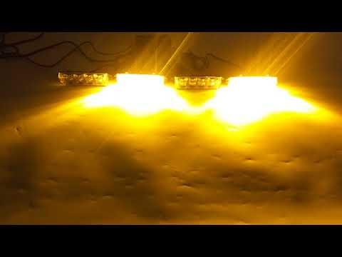 4In1 16 LED Remote Control Flash Strobe Warn Deck Dash Grill Light Amber Yellow