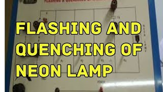 Flashing and Quenching - Neon Lamp | EXPERIMENT | By CBR