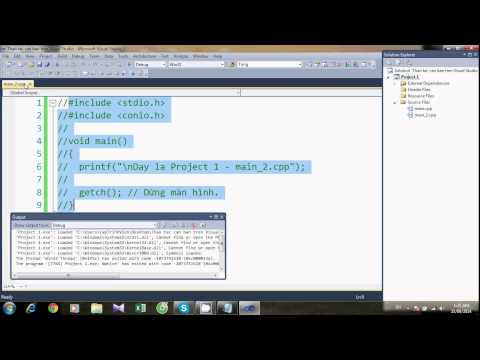 Lập trình C/C++ - Các thao tác căn bản trên Visual Studio