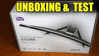 "BenQ EX3200R 31.5"" Curved FullHD 144Hz AMD Freesync UNBOXING & TEST"
