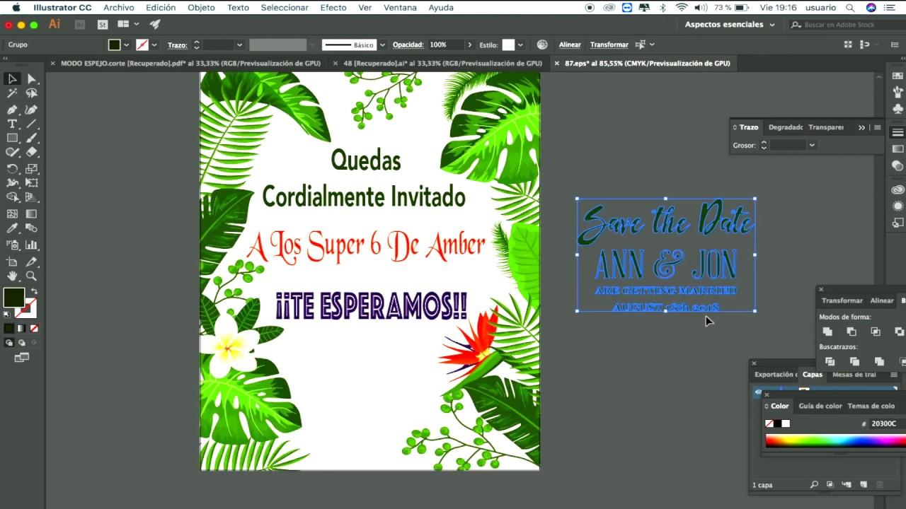 Como Descargar Y Editar Una Tarjeta De Invitación Para Cumple Años 2018 Gratis