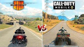 Call of Duty Mobile VS Call of Duty Black Ops 4 : Blackout Console I Detailed Comparison