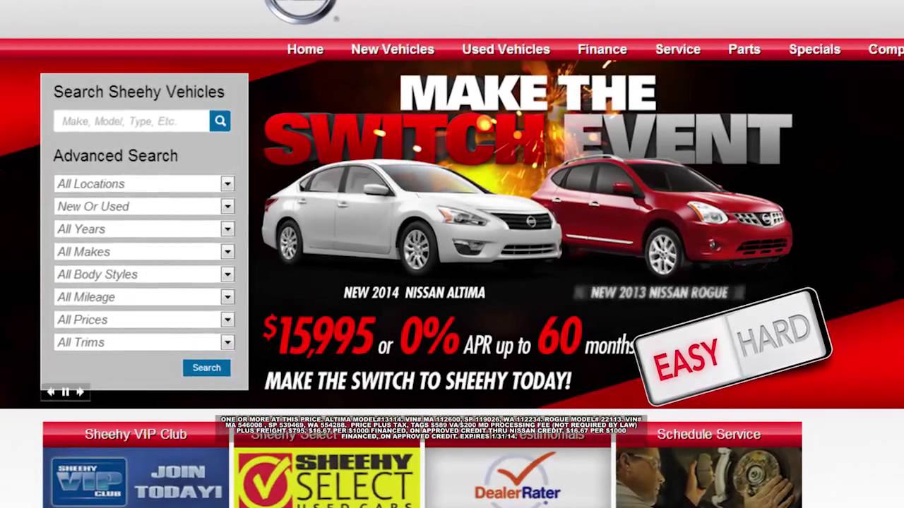 Sheehy Nissan DC Make The Switch Event: Springfield, Waldorf And Manassas    Altima And Rogue