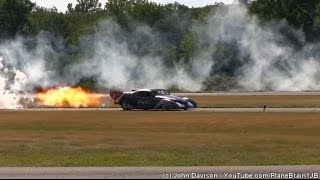 2015 Greenwood Lake Airshow - FLS Microjet vs Wicked Willy Jet Car