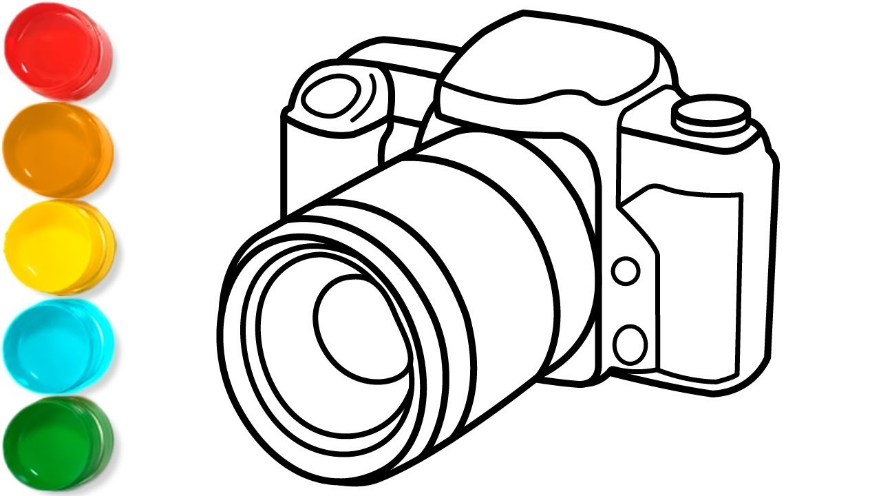 Camera Coloring Pages for Kids, Toddlers - Easy Camera Drawing for Kids   Kids Colors TV