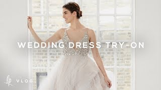 WEDDING DRESS TRY-ON   Lily Pebbles Vlog