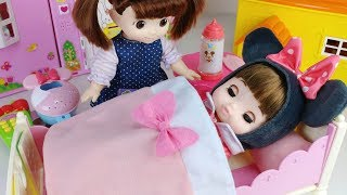 Baby Doll Bedroom house play and food toys play - ToyMong TV 토이몽