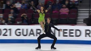 Мэдисон Чок Эван Бейтс Ритм танец Танцы на льду Лас Вегас Гран при по фигурному катанию 2021 2