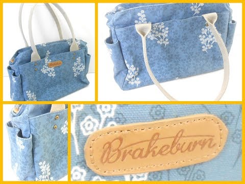 Womans Brakeburn Daisy Floral Design Light Blue Hobo Style Ladies Hand Bag