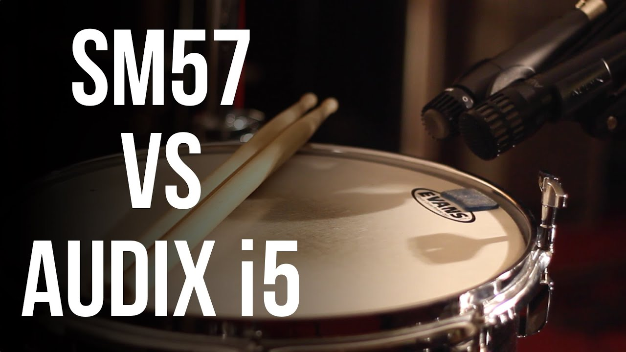 Audix i5 vs Shure SM57 on Snare Drum