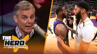 Colin talks AD joining forces with LeBron, calls NBA's fine on AD a 'con job' | NBA | THE HERD