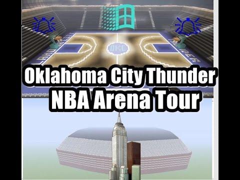Oklahoma City Thunder Minecraft Arena Tour