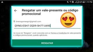 😱NOVO GERADOR DE GIFT CARD DA GOOGLE PLAY DA CERTO?