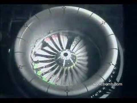 Blade out  test on a turbofan engine.