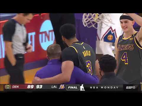 Anthony Davis is not Human after Insane Block to seal the game !