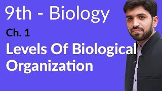 Levels of Biological Organization Biology - Ch 1 Introduction to Biology  - 9th Class Biology