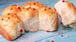 Sweet Bun Recipe | Tutti Frutti Bread | Eggless & Without Oven | Yummy