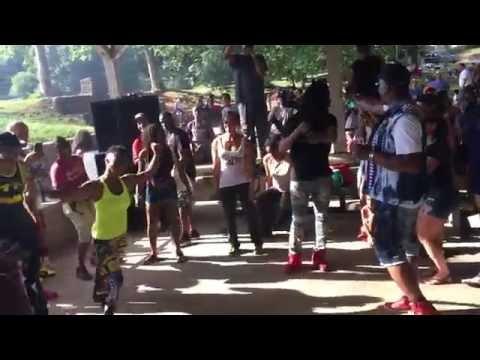 Dancers at Atlanta Greenhouse Music Festivial