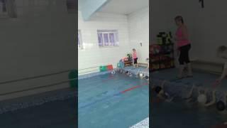 Открытый урок в бассейне.Сынуля мой умничка!
