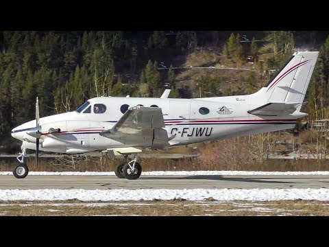 Beechcraft King Air 90 Engine Startup and Takeoff