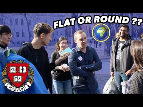ASKING HARVARD STUDENTS IS THE EARTH FLAT OR ROUND?? *shocking responses* thumbnail