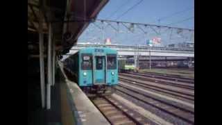105系オーシャンカラー 普通 高田・桜井経由奈良行 王寺駅到着.