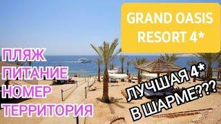 Grand Oasis Resort 4. Обзор пляжа завтрак ужин номер и прогулка по территории к морю.