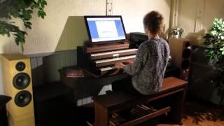 Gert demonstreert op het Jan Vayne-orgel - Eindejaarsorgelshow De Punt