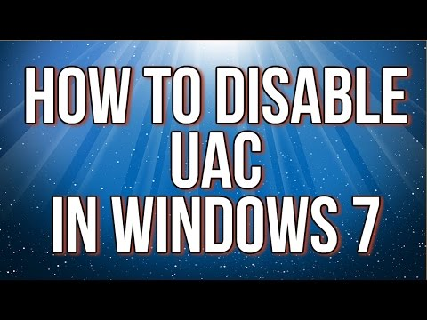 How To Disable UAC In Windows 7 - Turn off UAC