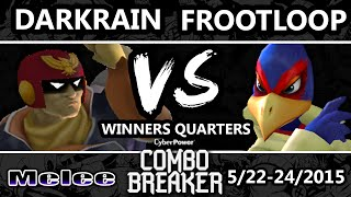 Combo Breaker - Frootloop (Falco) Vs. Darkrain (Captain Falcon) SSBM Winners Quarters - Smash Melee