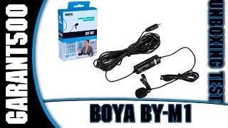 BOYA BY-M1 петличний мікрофон, розпакування та тест!