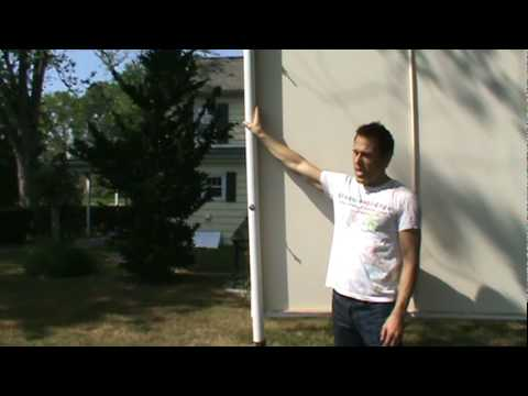 calico diy how to make an outdoor movie screen youtube. Black Bedroom Furniture Sets. Home Design Ideas