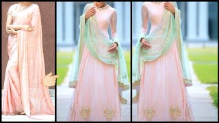 Diy Old Saree To Gown