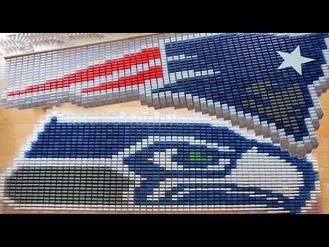Super Bowl XLIX 2015 in 6,000 Dominoes!