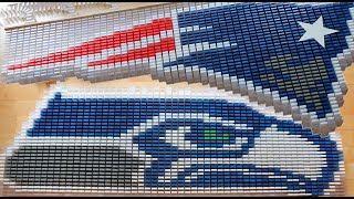 Super Bowl XLIX 2015 in 6,000 Dominoes!