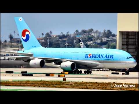 2 Hours Long of Plane Spotting at LAX Video