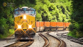 Freight Train Action at Shenandoah Junction, WV - July 4th 2020