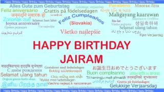 Jairam   Languages Idiomas - Happy Birthday