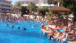 Palma de mallorca, bh hotel, pool party 2015