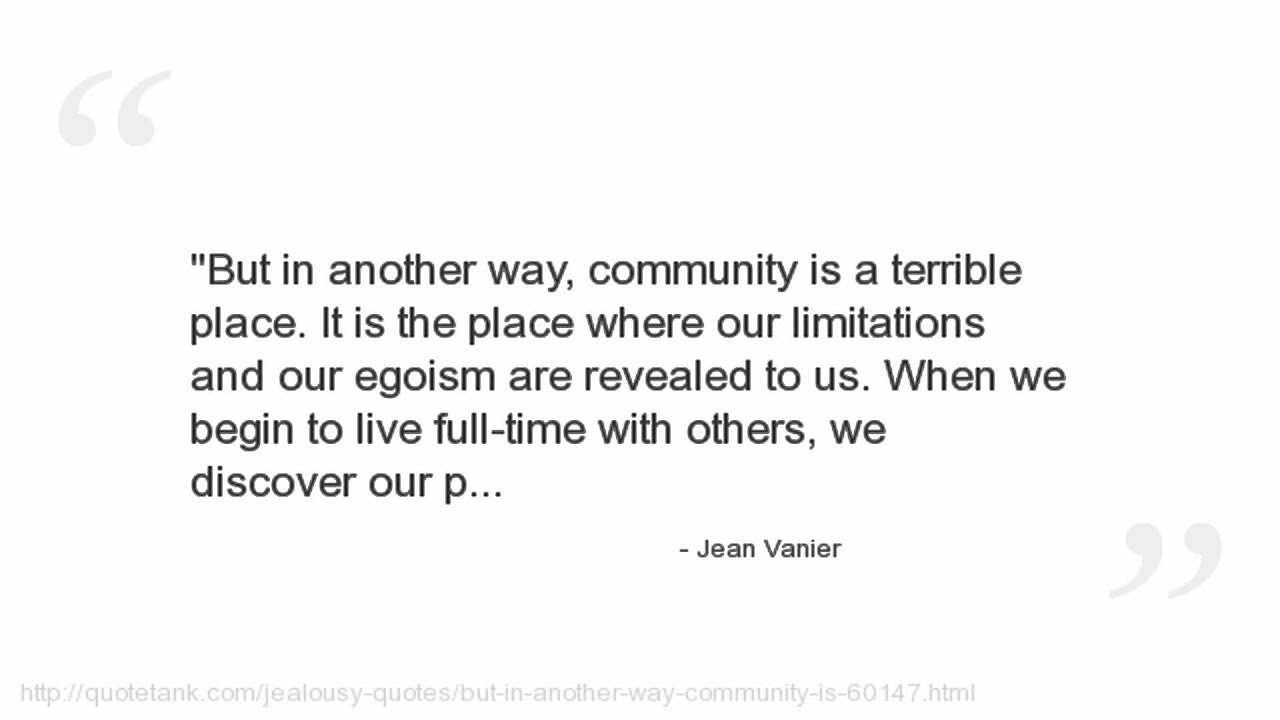 Quotes About Disabilities Jean Vanier Quotes  Youtube