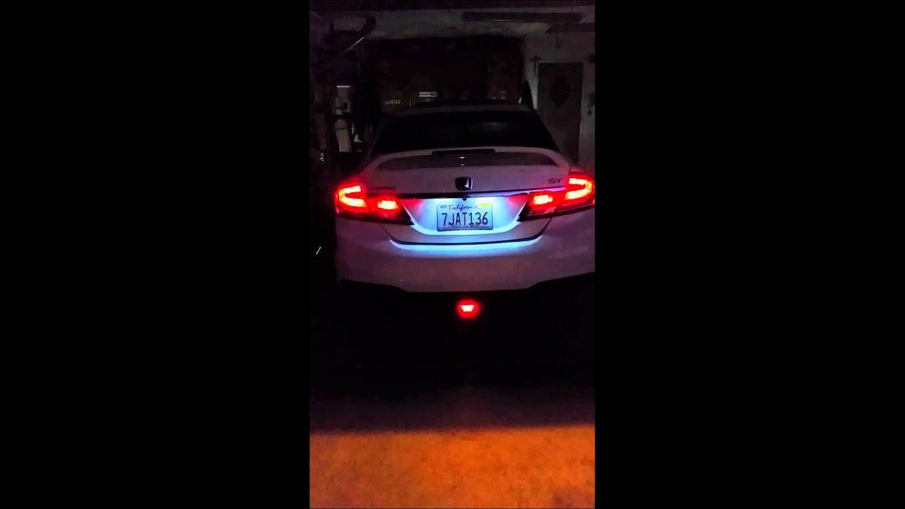 2015 Si Jdm 4th brake light flashing /fog