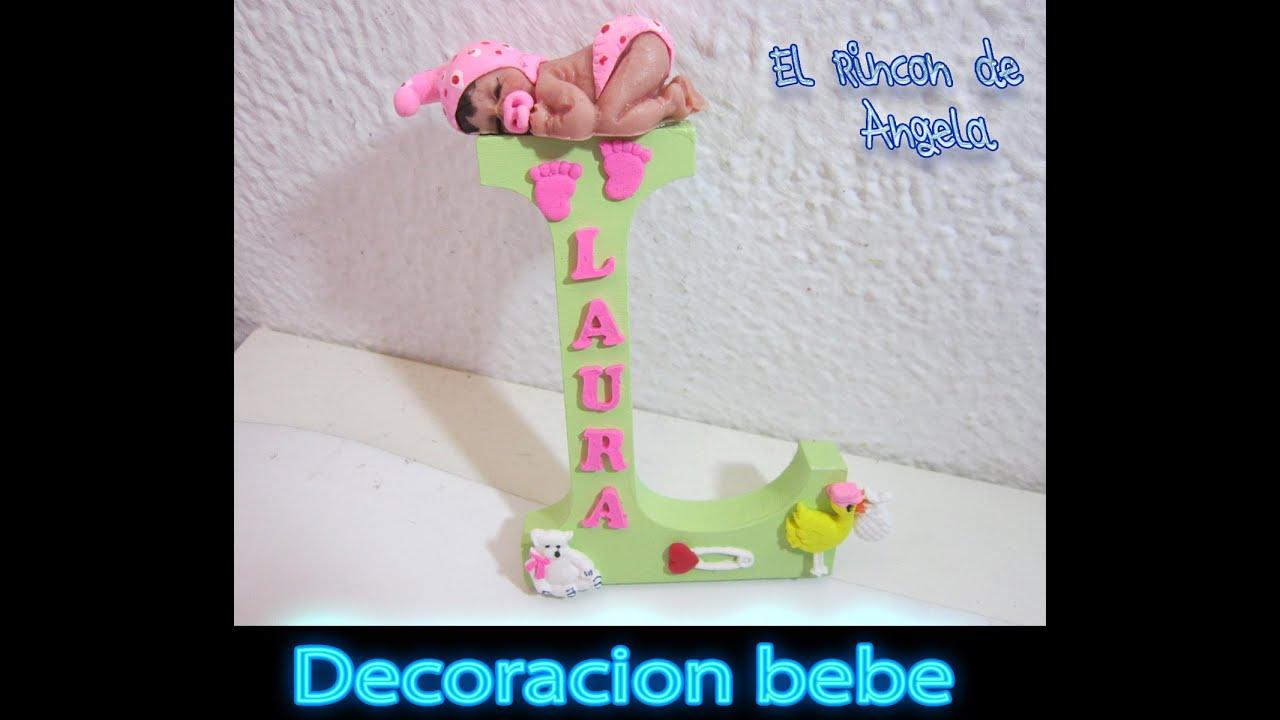 Diy decorar una letra de madera para bebe con adornos de fimo sculpey y porcelana fria youtube - Letras de madera para decorar ...