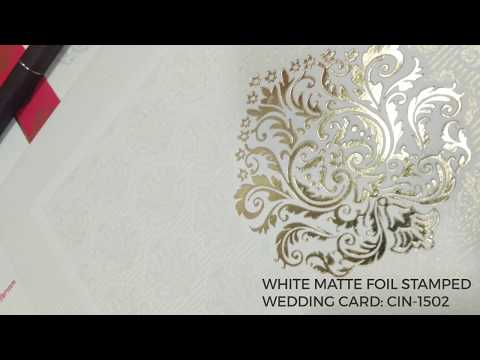 Modern DIY gold foil wedding invitations | Letter press printing | IndianWeddingCards